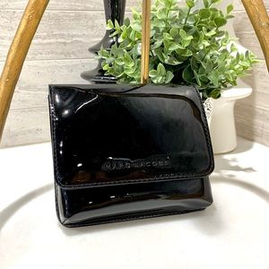 NWOT! MARC JACOBS small square clutch, blk. patent
